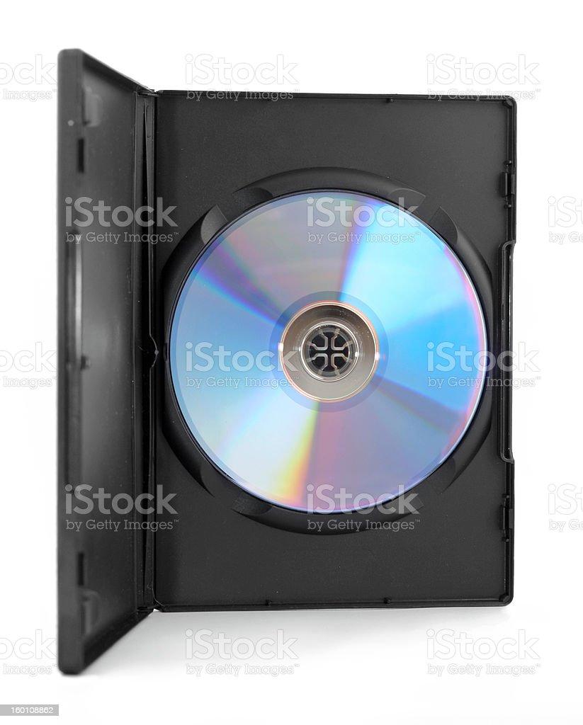 Data media in the plastric box stock photo