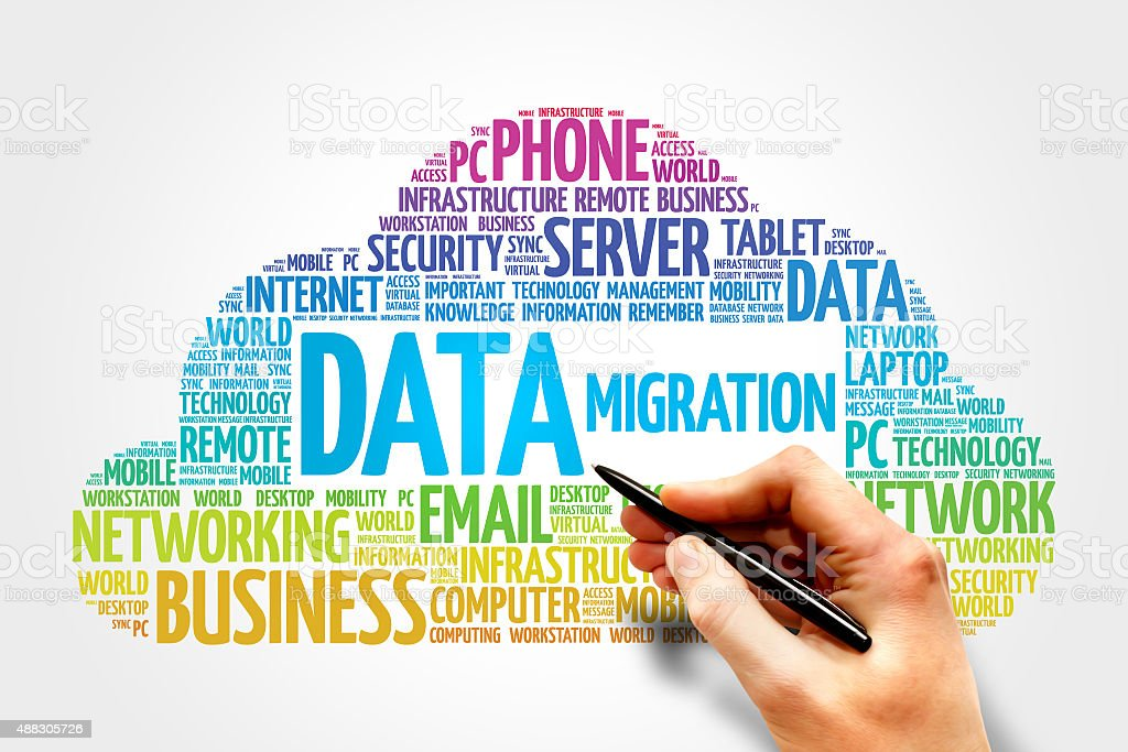 Data Migration stock photo