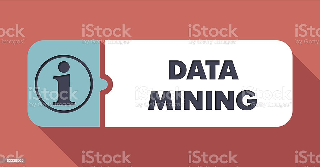 Data Mining Concept in Flat Design. stock photo