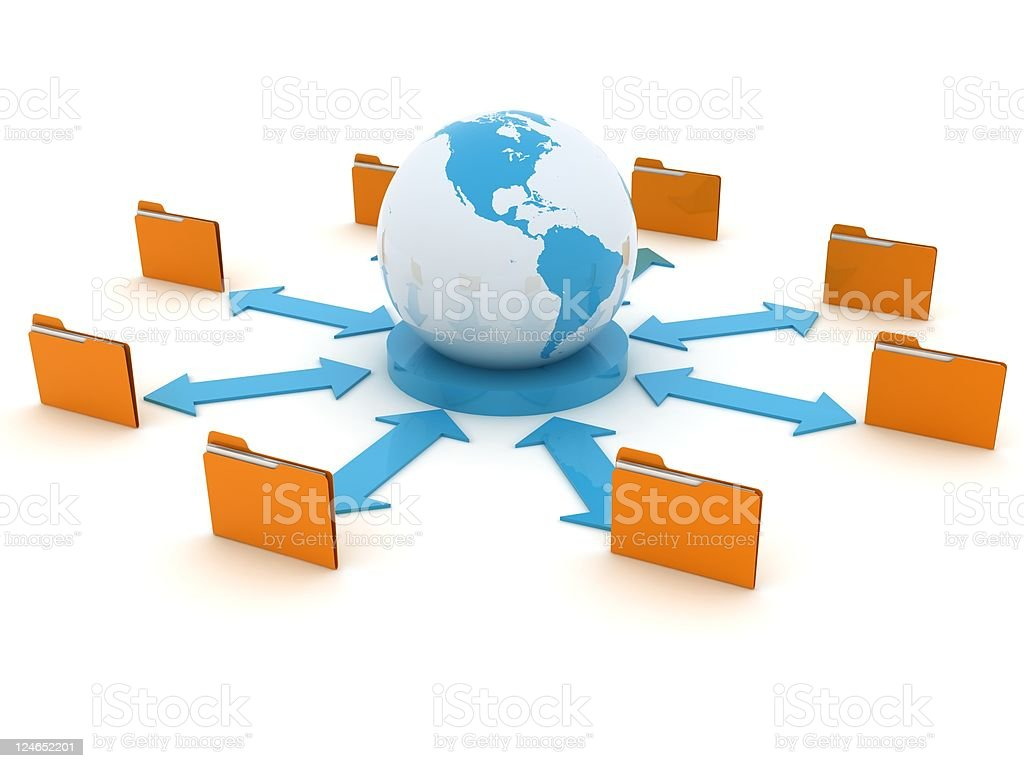 Data Network royalty-free stock photo