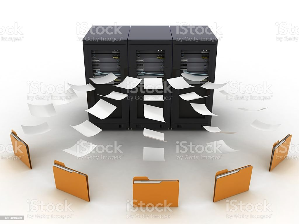 Data Network royalty-free stock photo