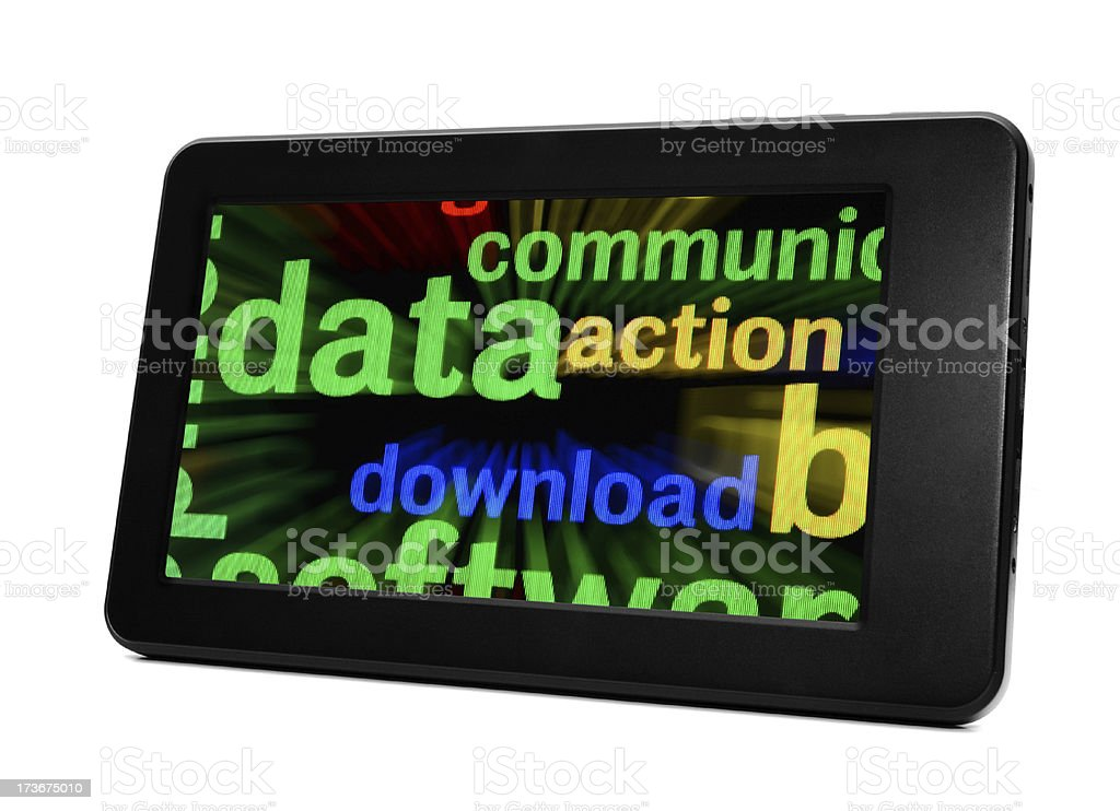 Data on pc tablet royalty-free stock photo