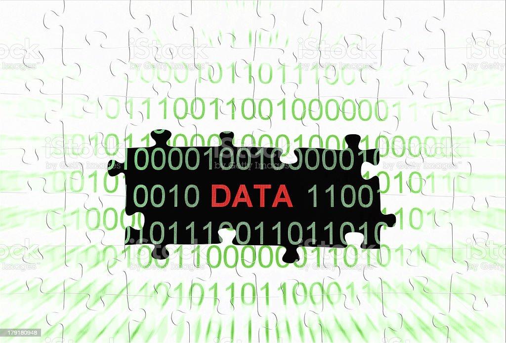 Data puzzle concept stock photo