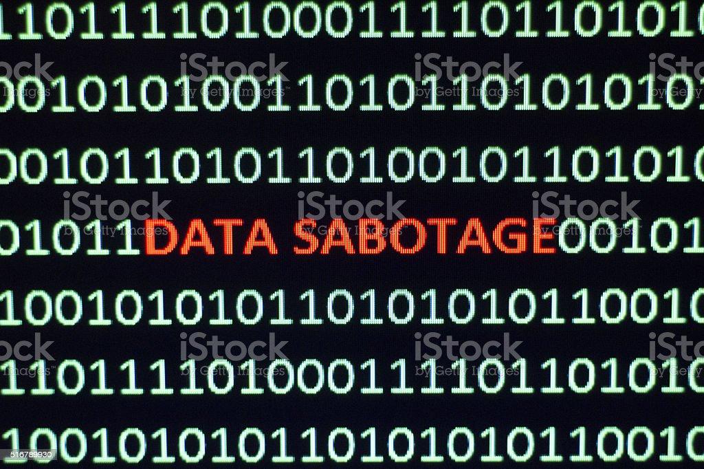 Data Sabotage stock photo