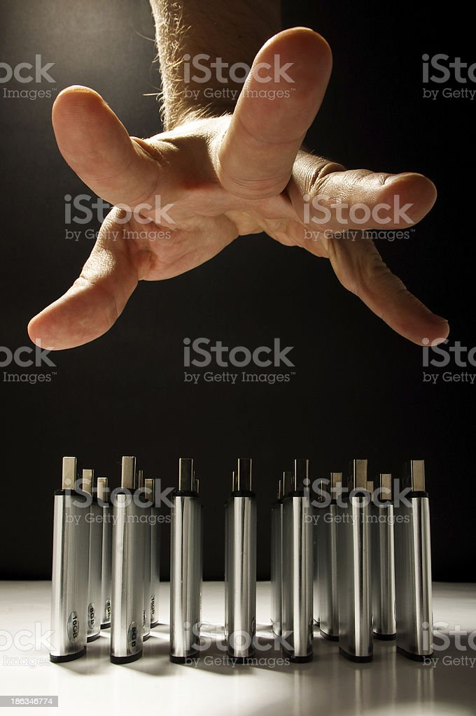 Data safety issues stock photo
