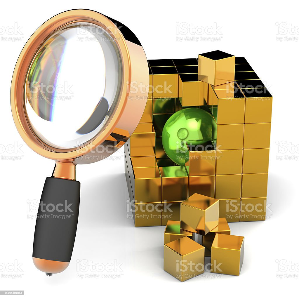 Data searching. I have found necessary information! royalty-free stock photo