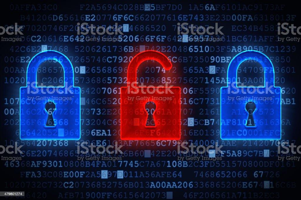 Data Security Concept A01 stock photo