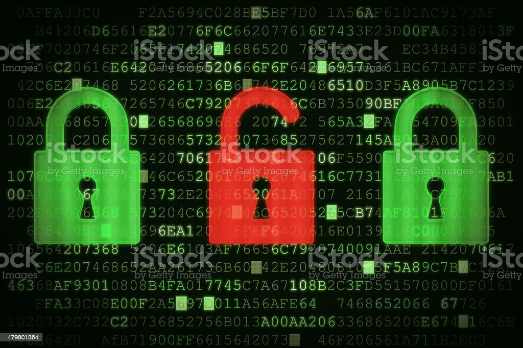 Data Security Concept A02 stock photo