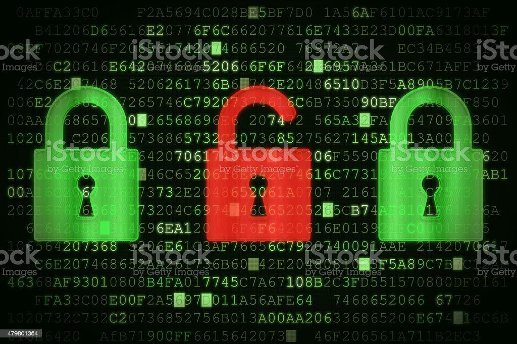 Data Security Concept A02 stock photo