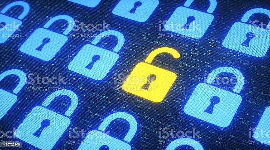 Data Security Concept A03 stock photo