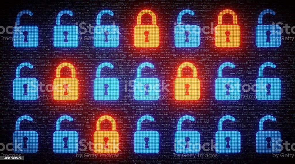 Data Security Concept A07 stock photo