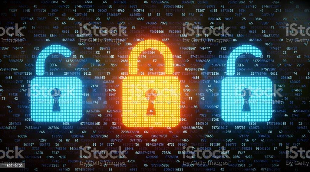 Data Security Concept A09 stock photo