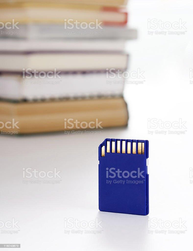 Data storage and books royalty-free stock photo