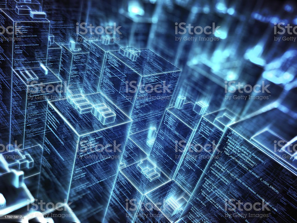 Data storage cyber concept stock photo
