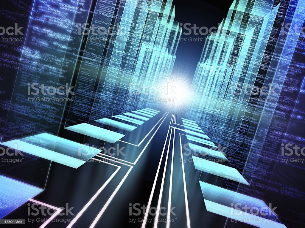 Data storage cyber concept royalty-free stock photo