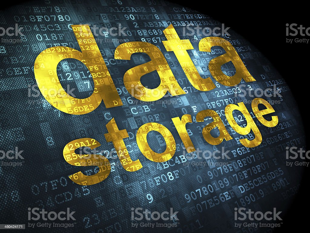 Data Storage on digital background royalty-free stock photo