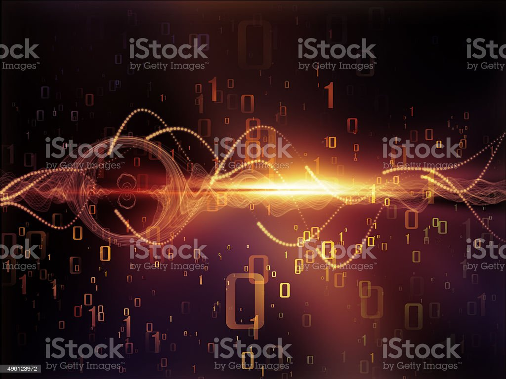 Data Stream vector art illustration