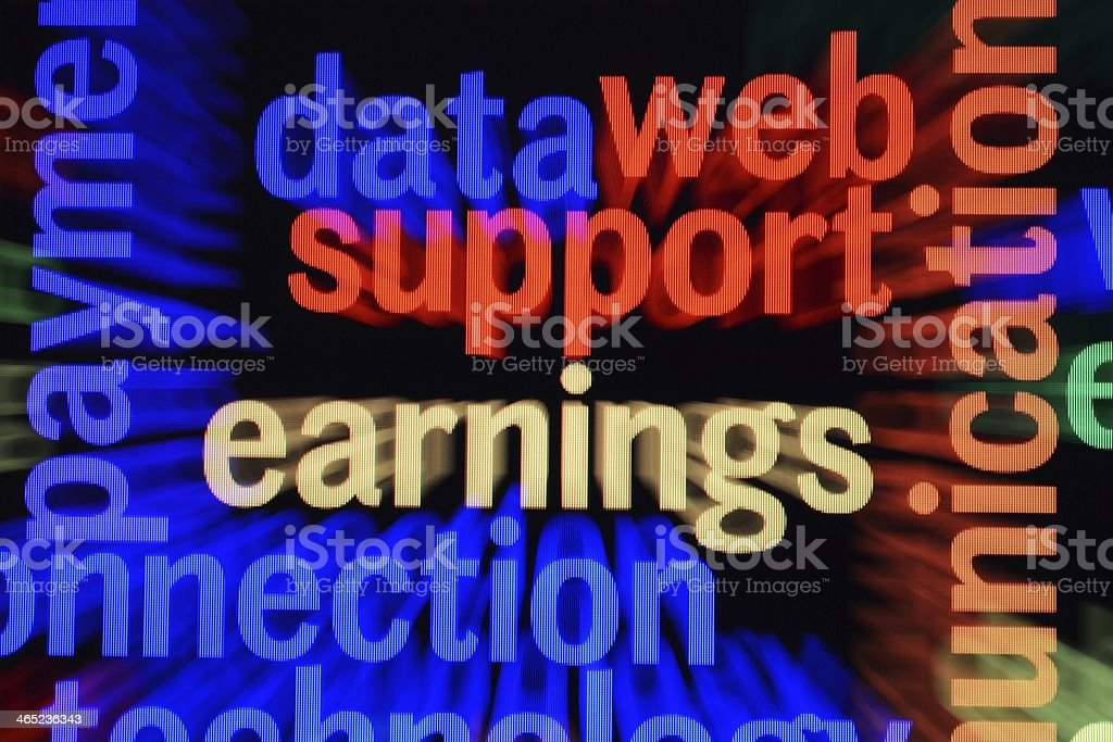 Data support earnings royalty-free stock photo