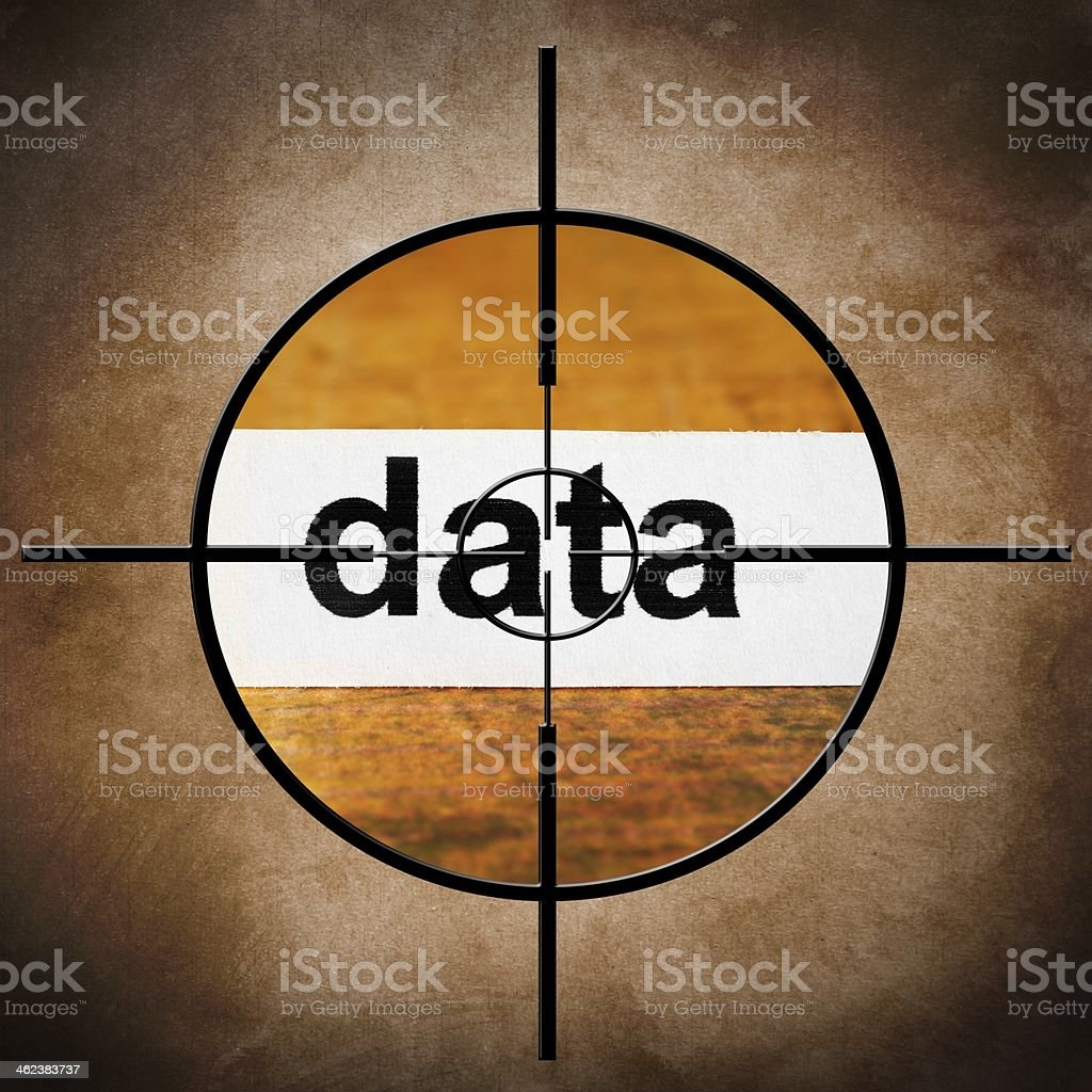 Data target concept stock photo