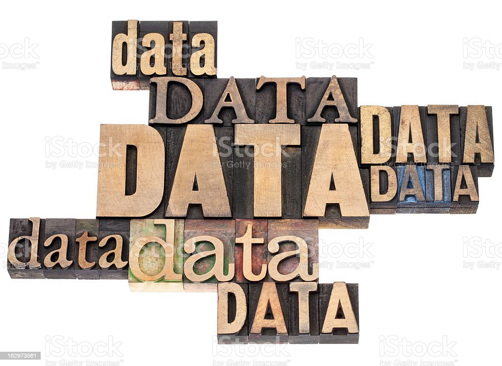 data word abstract royalty-free stock photo