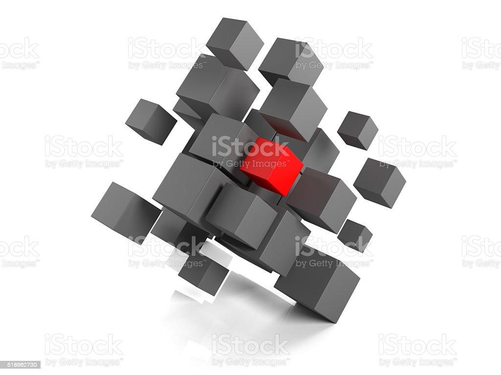 Database colored cube stock photo