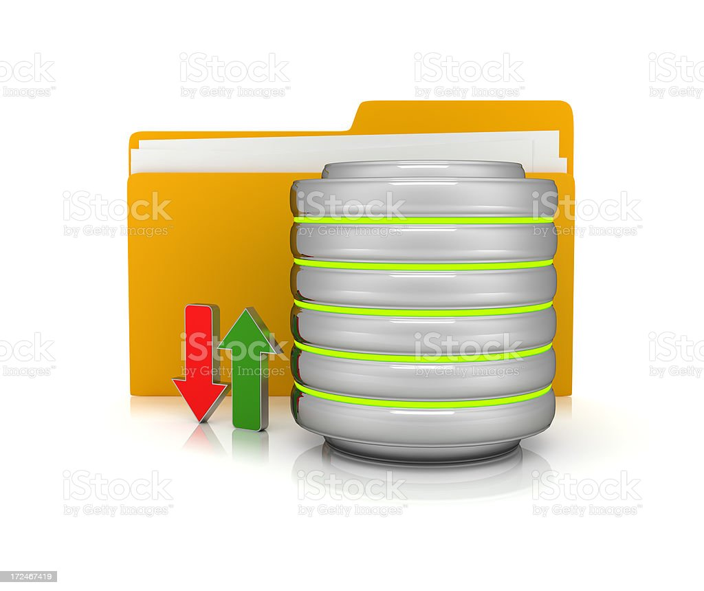 Database concept royalty-free stock photo