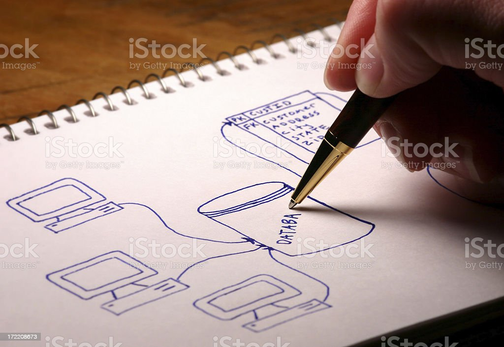 Database Diagram stock photo