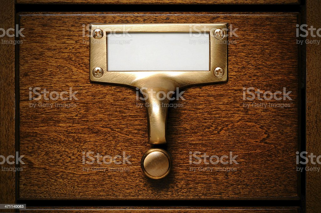 Database drawer stock photo