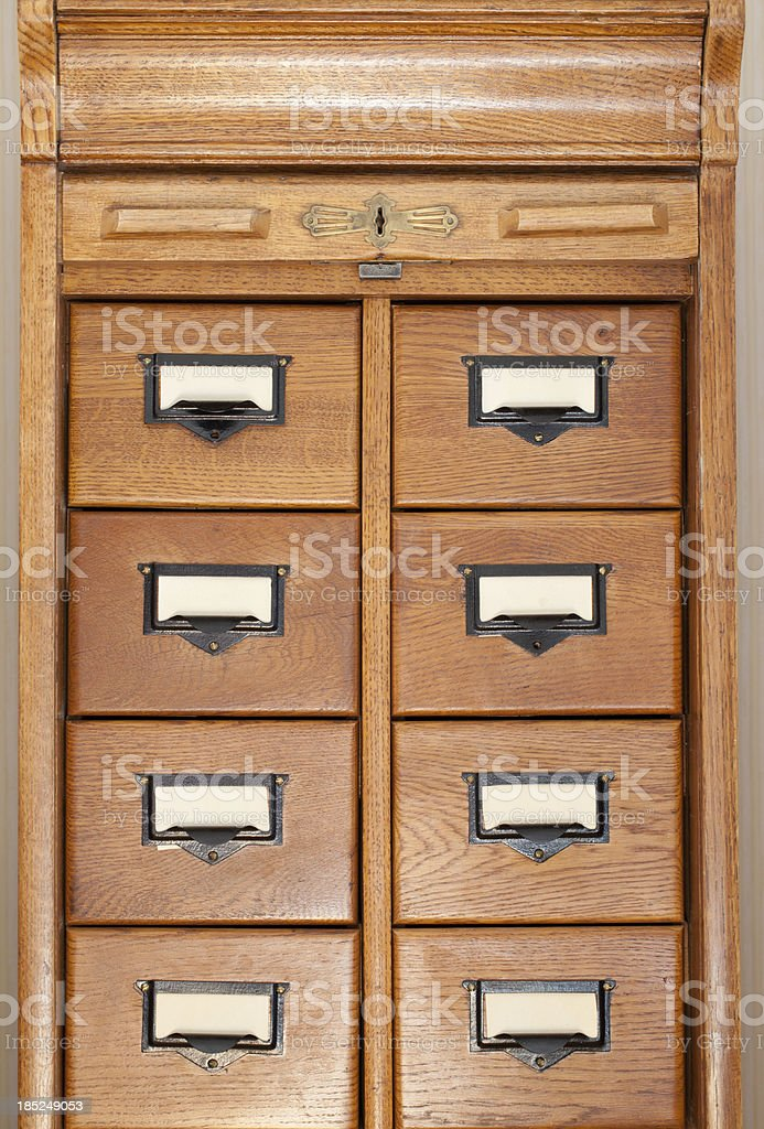 Database drawers stock photo
