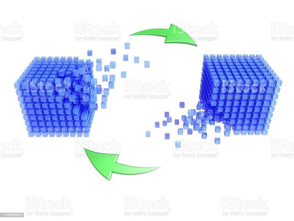 database - synchronization stock photo