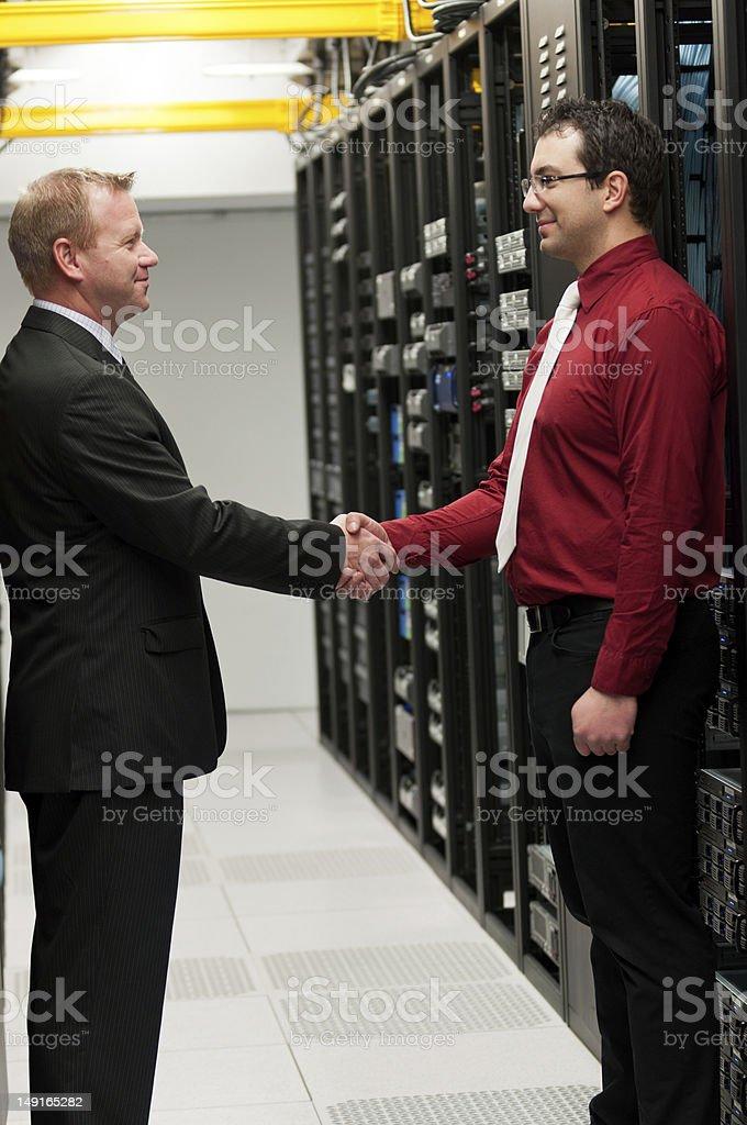 Datacenter deal stock photo