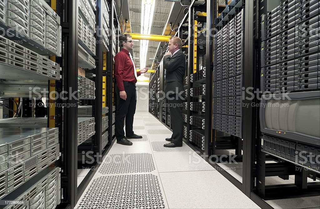Datacenter discussion royalty-free stock photo