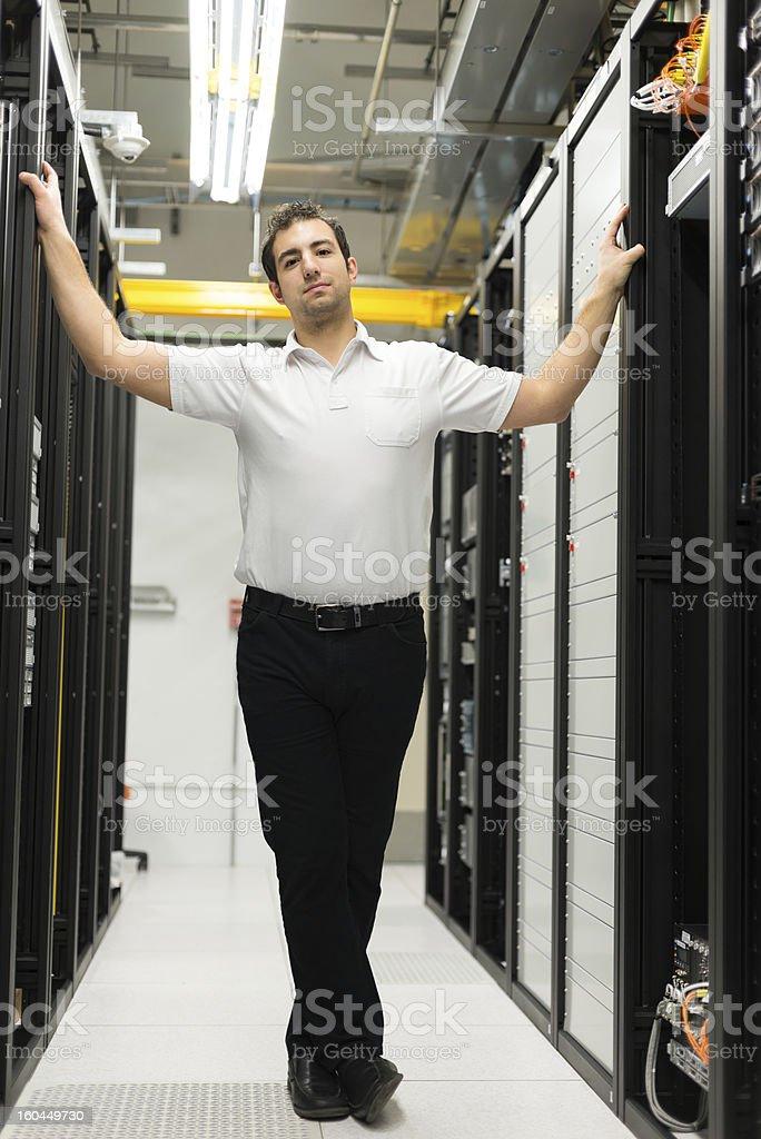 Datacenter manager stock photo