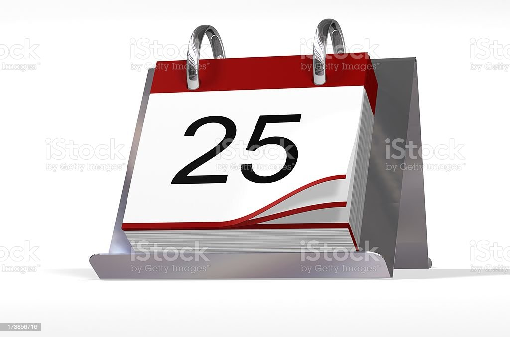 Date Block 25 royalty-free stock photo