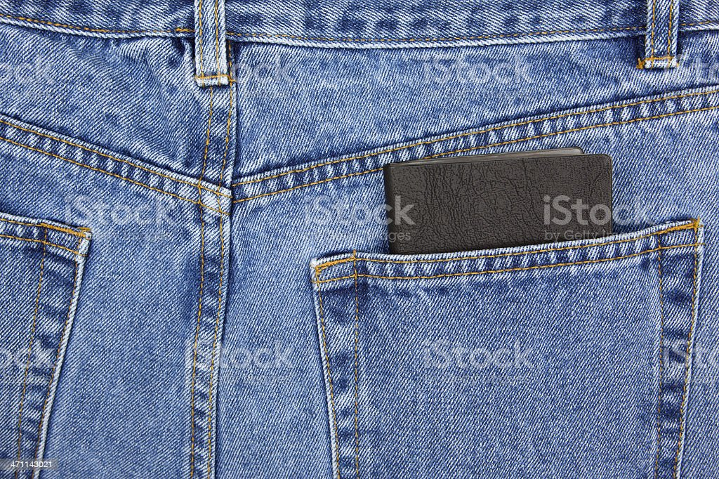 Date Book in Back Pocket stock photo