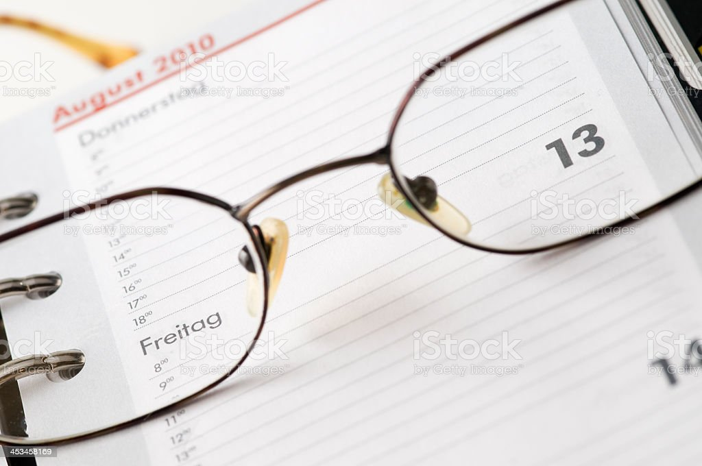 date in the glasses royalty-free stock photo