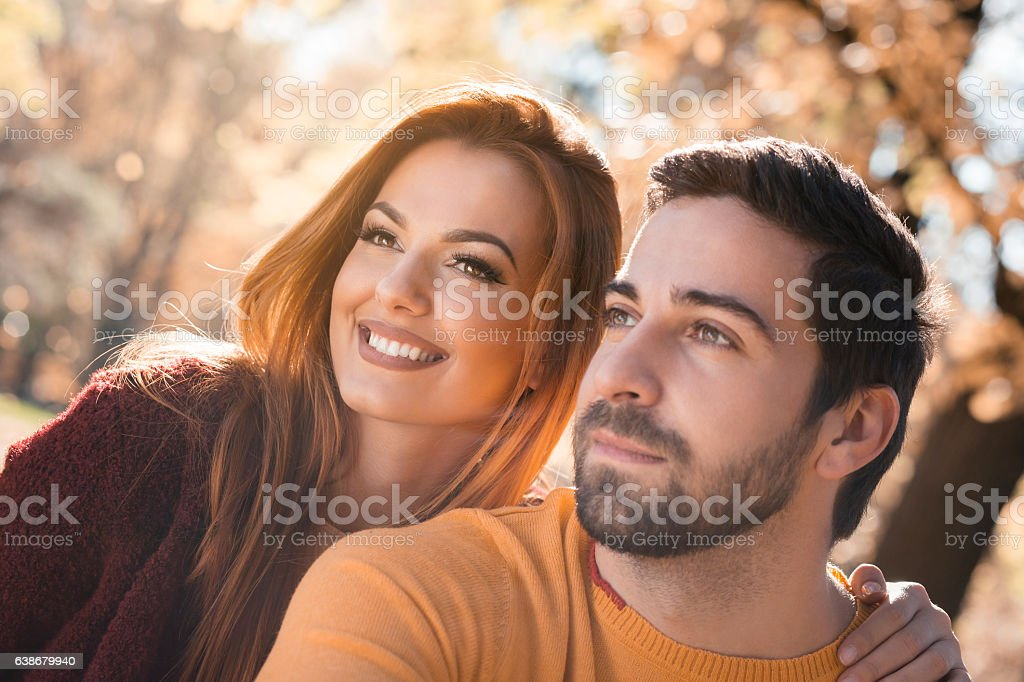 Date in the park stock photo