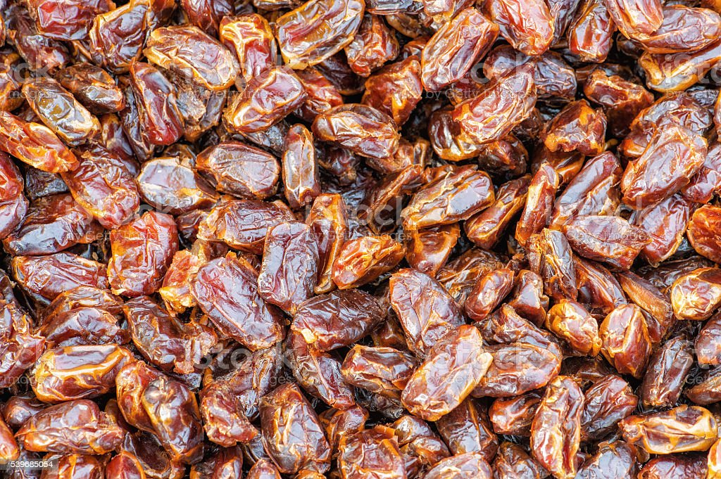 Date palm on a traditional craftsman market stock photo