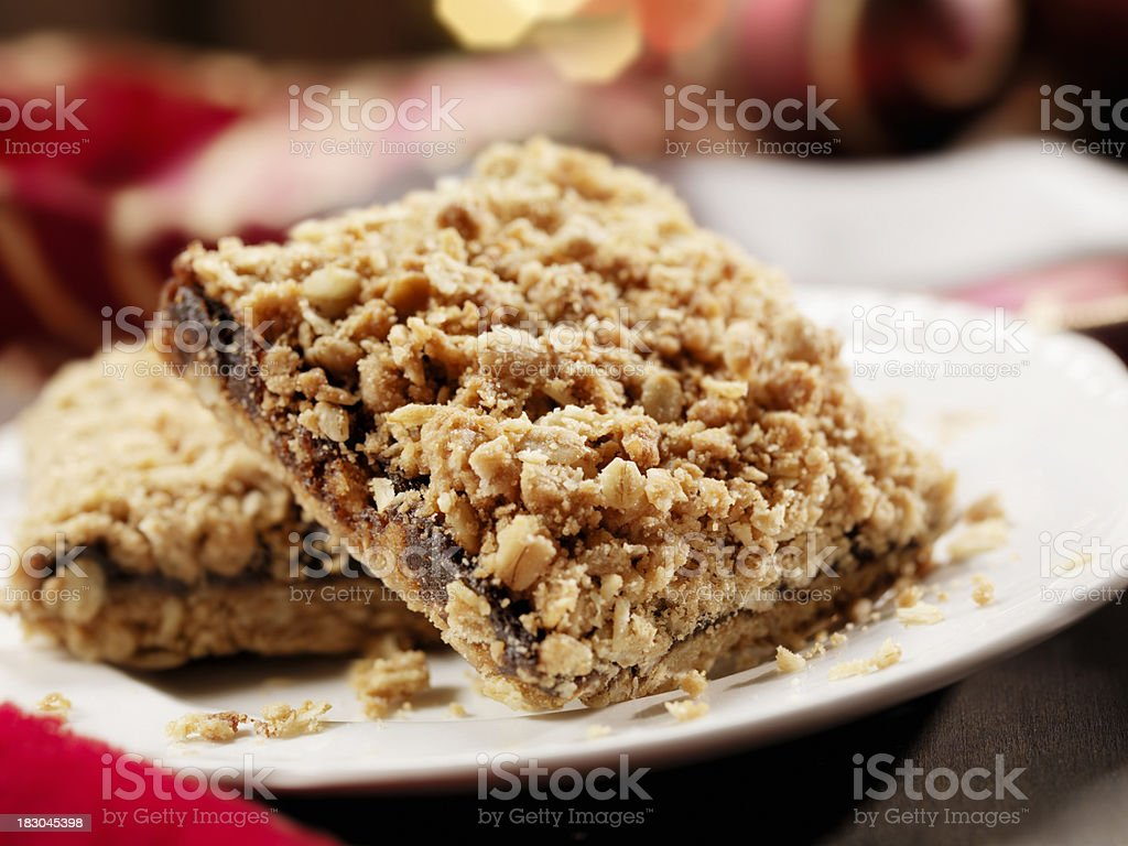 Date Squares at Christmas Time stock photo