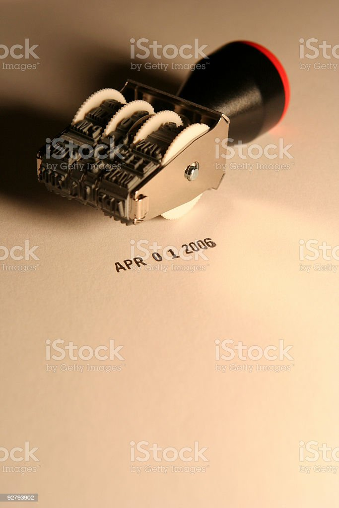 Date Stamp - April Fool's Day 2006 royalty-free stock photo