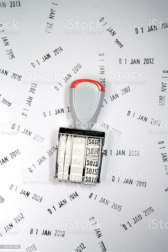 Date stamp royalty-free stock photo