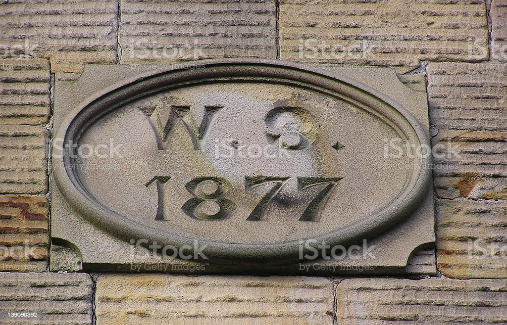 Date Stone royalty-free stock photo