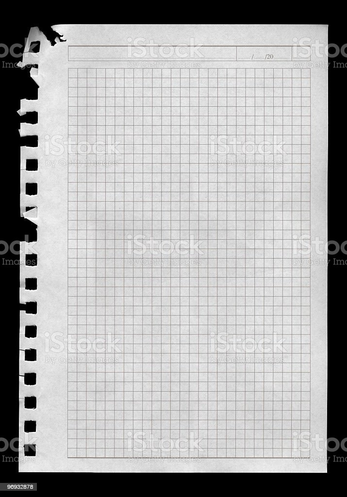 Dated Notepad Page royalty-free stock photo