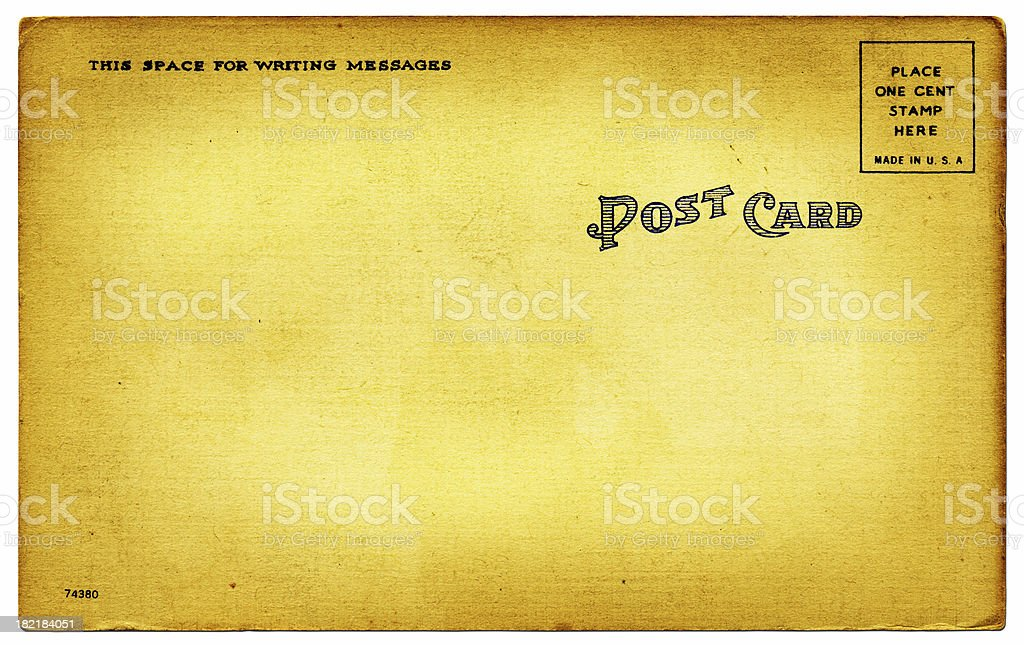 Dated Postcard royalty-free stock photo