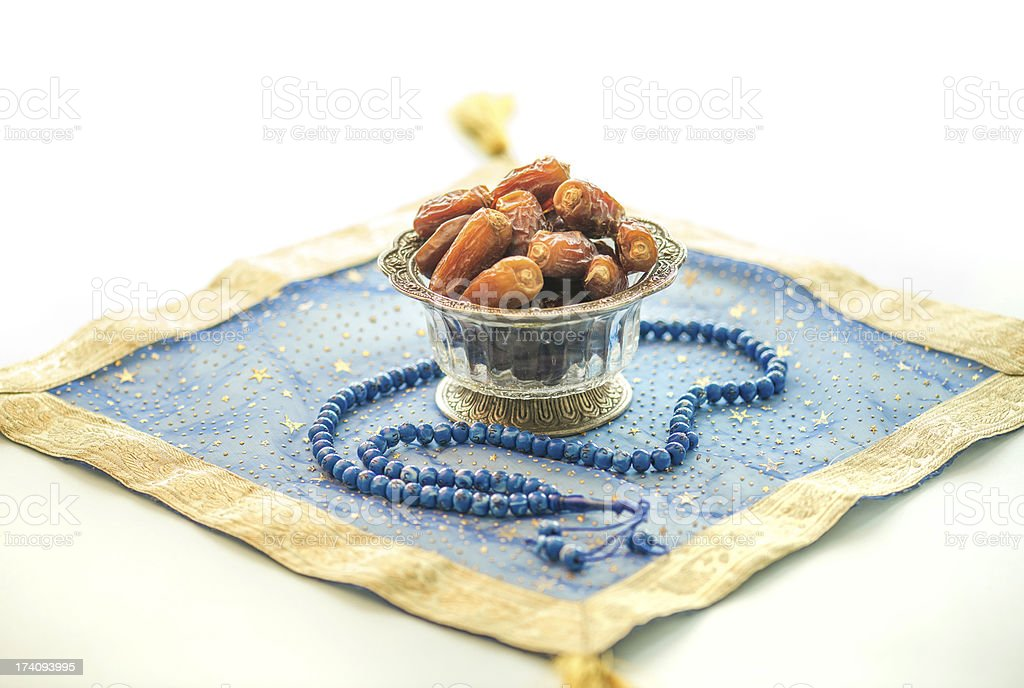 Dates and rosary royalty-free stock photo
