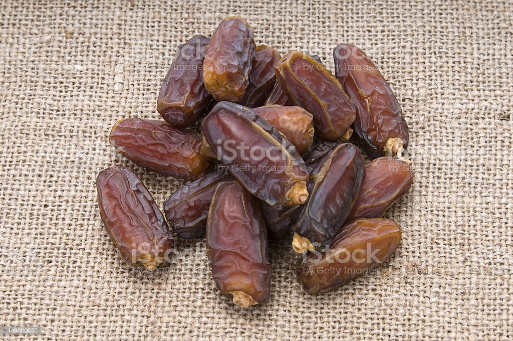 Dates on Canvas royalty-free stock photo