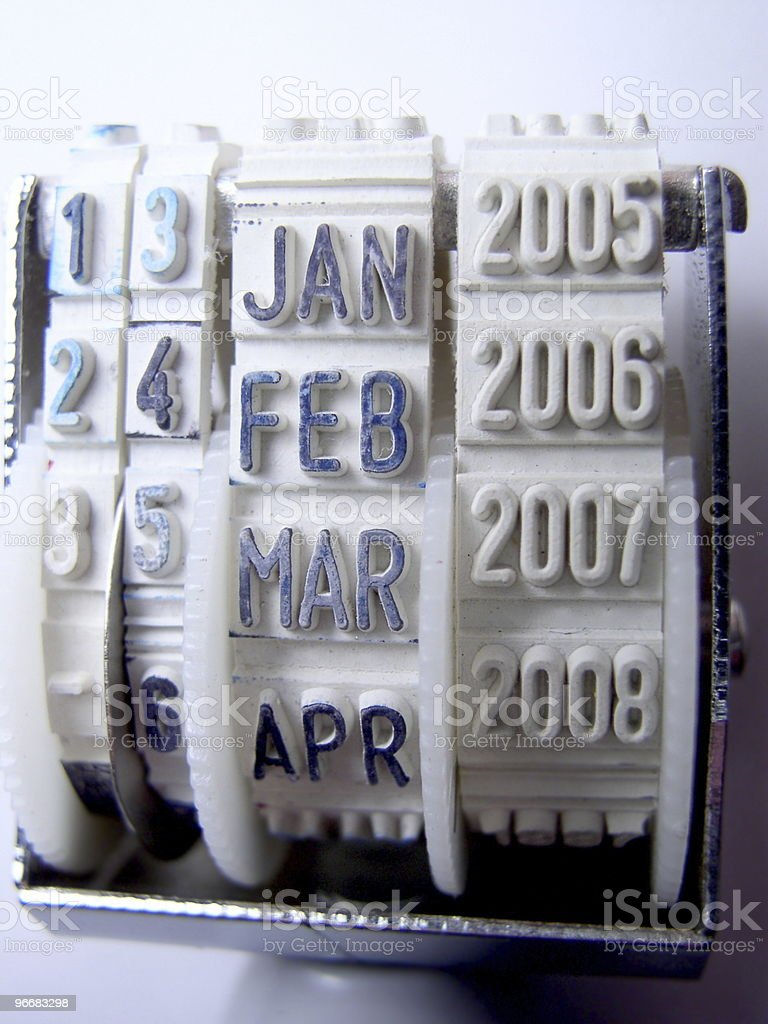 Datestamp stock photo