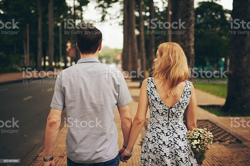 Dating couple stock photo
