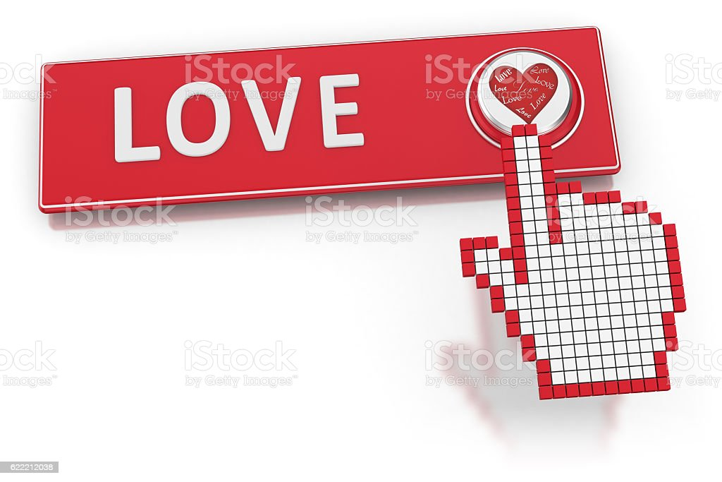 Dating Website - Button stock photo