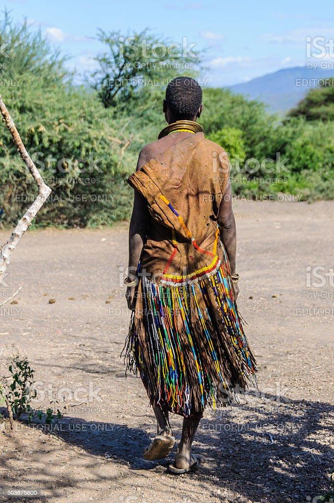 Datoga woman, Lake Eyasi, Tanzania stock photo